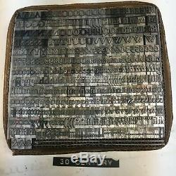 Century 30 pt Letterpress Type Vintage Metal Lead Sorts Font Fonts Print