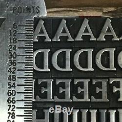 Cheltenham Bold 24 pt Letterpress Type Vintage Metal Lead Sorts Font Fonts