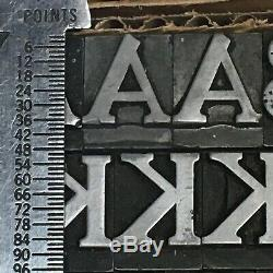 Cheltenham Bold 48 pt Letterpress Type Vintage Metal Lead Sorts Font Fonts
