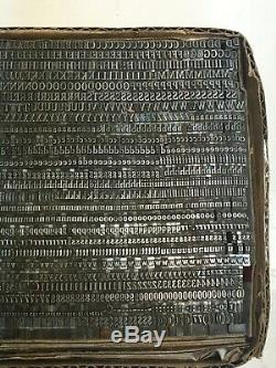 Cheltenham Condensed 12 pt Letterpress Type Vintage Metal Lead Printing
