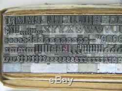 Cheltenham Inline 14 pt. Letterpress Metal type Printers Type