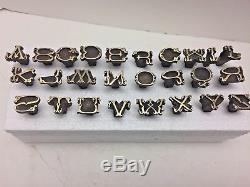 Complete Set Antique Bronze / Brass Bookbinding Finishing Tools Alphabet