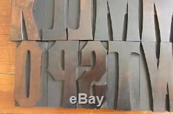 Concave Tuscan Condensed Letterpress Blocks Printing Wood Type 4-7/8 Inch CAPS