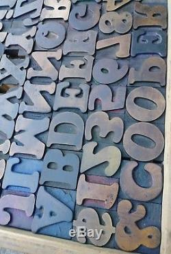 Cooper Hamilton Wood Type 10Line Antique Printing Vandercook Letterpress 80pcs