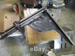 Craftsmen Mchy. Co. Victor Letterpress Typesetter Paper Press Hand Miterer