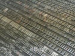 Craw Clarendon 24 pt Letterpress Type Vintage Metal Lead Sorts Font Fonts