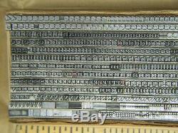 Craw Modern 10 pt. Letterpress Metal type Printers Type