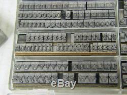 Devine Outline 24 pt Metal Type Printers Type Letterpress Type