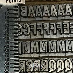 Dom Casual 24 pt ATF #696 Letterpress Type Vintage Metal Lead Printing Font