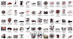 Dxf format complete art collection on CD for plasma cutting 130+ files by FNFAB