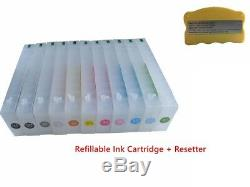 Empty Epson Stylus Pro 7910/7900/9900/9910 Refillable Ink Cartridge + 1 Resetter
