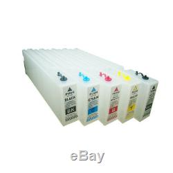 Empty Refillable Cartridge 1000ml +Chip for Epson SureColor T3000/T5000 KCMY MK