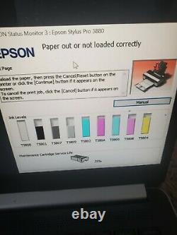 Epson Stylus Pro 3880 professional Inkjet Printer Gallery Quality. Sells for 3k