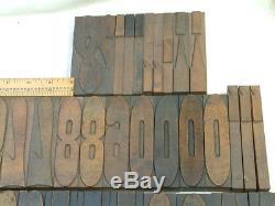 Ex. Rare Hamilton 25 line French Clarendon Veneer Letterpress Wood Type 84pcs