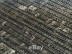 Futura Medium 18 pt Letterpress Type Vintage Metal Lead Sorts Font Fonts