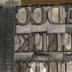 Garamond 48 pt Letterpress Type Vintage Printer's Lead Metal