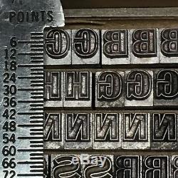 Gothic Open 18 pt Letterpress Type Vintage Metal Printing Sorts Font Fonts
