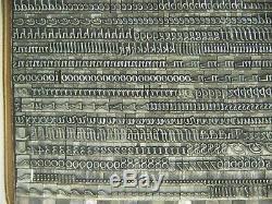 Goudy Cursive 14 pt. Letterpress Metal type Printers Type