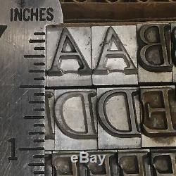 Goudy Italic 36 pt Letterpress Type Vintage Printer's Lead Metal