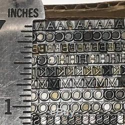 Goudy Oldstyle 10 pt Letterpress Type Printer's Lead Metal Printing Font