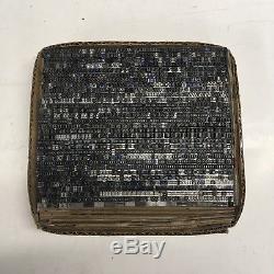 Goudy Oldstyle 10 pt Letterpress Type Vintage Printer's Lead Metal Printing