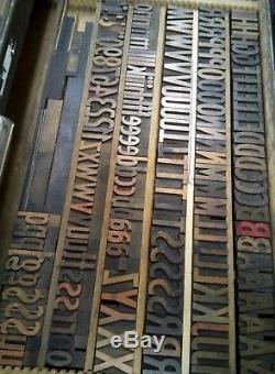 Hamilton Gothic Wood Type 10 line Vandercook LETTERPRESS Printing 160pcs