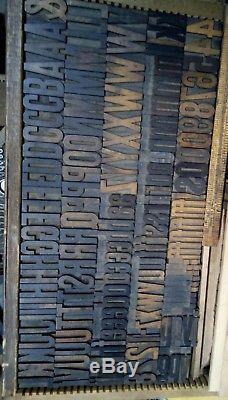 Hamilton Gothic Wood Type 12 line Vandercook LETTERPRESS Printing 135 pcs