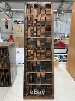 Hamilton Letterpress Furniture Cabinet Wood Type Vintage Original Picas