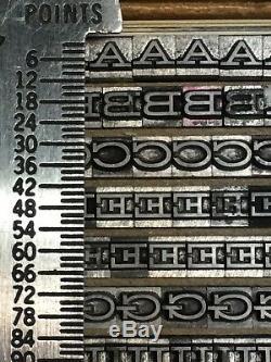 Hellenic Wide Medium 12 pt Letterpress Type Vintage Metal Lead Printing Font