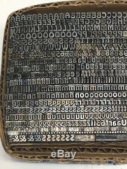 Hobo 10 pt Letterpress Type Vintage Printer's Lead Metal Printing Font Fonts