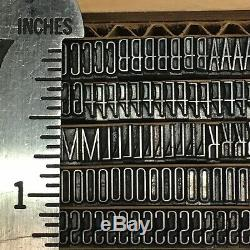 Huxley Vertical 18 pt Letterpress Type Vintage Metal Printing Sorts Font