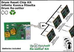 KONICA MINOLTA BIZHUB Infinite Resetter Reset Euro C451 C550 C650 IU610 CMYK