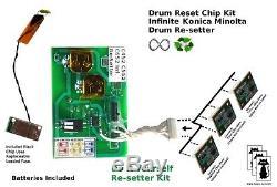KONICA MINOLTA BIZHUB Infinite Resetter Reset Euro C452 C552 C652 IU612 CMYK
