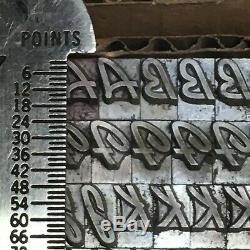 Kaufman Bold 24 pt ATF 657 Letterpress Type Vintage Metal Lead Sorts Font