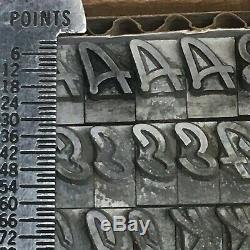Kaufman Bold 30 pt ATF 657- Letterpress Type Vintage Metal Lead Sorts Font