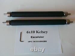 Kelsey Excelsior 6x10 Rollers for letterpress printing press all