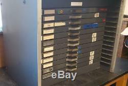 King McKay 12 drawer apt studio letterpress Small Flat Type Cabinet Sort Mc3