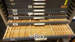 King McKay 12 drawer apt studio letterpress Small Slant Type Cabinet Sort AN03