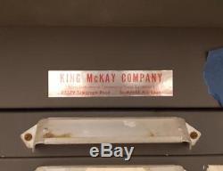 King McKay 12 drawer apt studio letterpress Small Type Cabinet Sort hobby AN01
