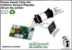 Konica Minolta CF 2002 3102 infinite reset drum resetter chip