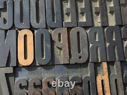 Large Antique VTG American W. T. Co Wood Letterpress Print Type Block Letter Set