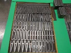 Letterpress Foundry Type 120 Point RALEIGH GOTHIC CONDENSED-ATF CAST