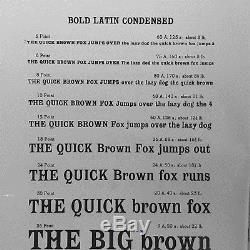 Letterpress Foundry type 24pt. Bold Latin Condensed from Stephenson Blake