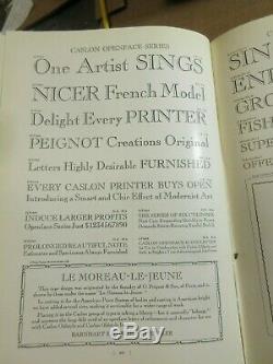 Letterpress Lead Type 10 Pt. Caslon OPENFACE Barnhart Brothers & Spindler d55