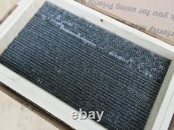 Letterpress Lead Type 10 Pt. Harris Roman Keystone-ATF # 854 L78