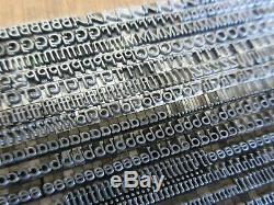 Letterpress Lead Type 10 Pt. Parsons Italic (B, B, & S) a21