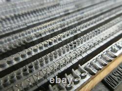 Letterpress Lead Type 12 Pt. Scribble A. D. Farmer & Son Type Founding Co. B46