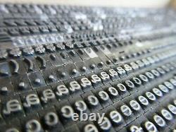 Letterpress Lead Type 12 Pt. Typewriter L57