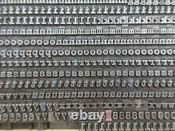 Letterpress Lead Type 12 Pt. Typewriter M17