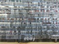 Letterpress Lead Type 16 Pt. Twentieth Century Medium Condensed L31